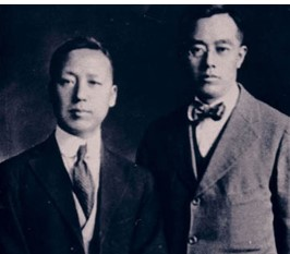 김규식 선생 사진(사진 오른쪽, 왼쪽은 이승만)